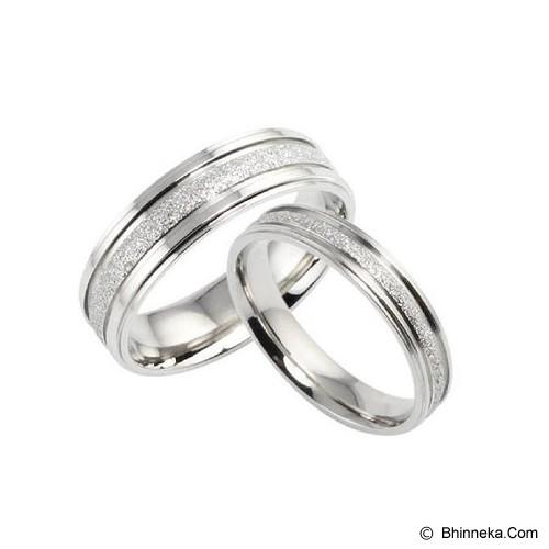 TITANIUM RING Cincin Couple Size 7(F) & 7(M) [GS275] - Silver & Silver - Cincin